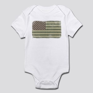 Camo American Flag [Vintage] Infant Bodysuit